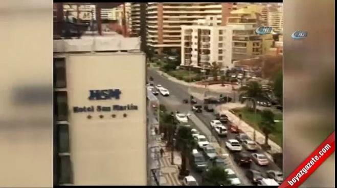 deprem - 6.9 büyüklüğündeki deprem kamerada