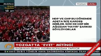Başbakan Yıldırım Yozgat'ta konuştu
