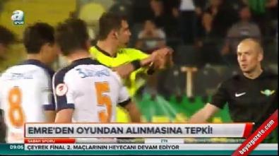 Emre Belözoğlu su şişesi fırlattı