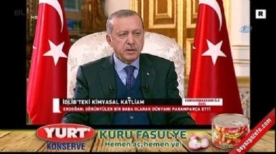 Cumhurbaşkanı Erdoğan'dan, Donald Trump'ın Suriye'ye askeri müdahale açıklamasına yanıt