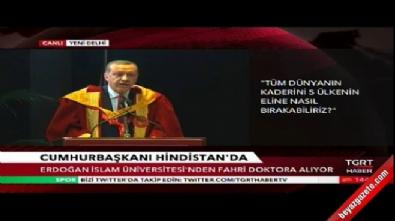 Cumhurbaşkanı Erdoğan Hindistan'da konuştu...