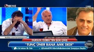 dursun ozbek - Ahmet Çakar Dursun Özbek'e 'amk' diyen Tunç Üner'i rezil etti