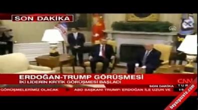 Trump Erdoğan'ı böyle karşıladı!