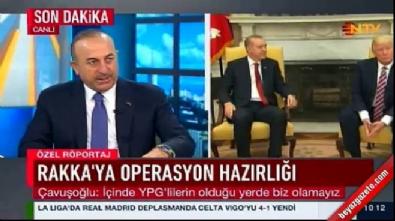 Bakan Çavuşoğlu: YPG'yi vururuz ifademiz olumsuz karşılanmadı