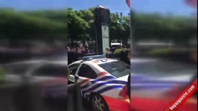 Cumhurbaşkanı Erdoğan'a, Brüksel'de sevgi gösterisi