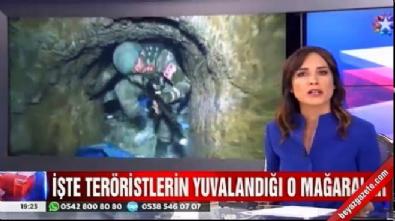 pkk teror orgutu - Nazlı Çelik temizlenen PKK mağaralarında