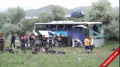 Ankara - Çankırı karayolunda otobüs kazası İzle