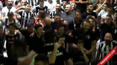 Almanya'da yaşayan Beşiktaş taraftarları şampiyonluğu kutladı