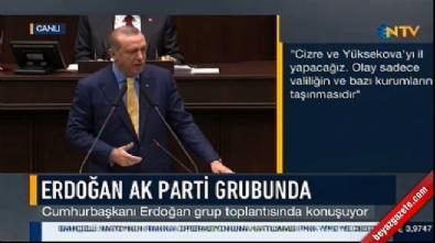 Cumhurbaşkanı Erdoğan'ın AK Parti grubu konuşması