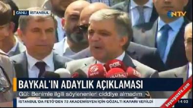 Abdullah Gül'den 'Baykal' açıklaması