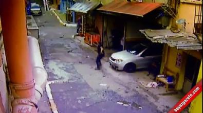 Mahalleli ile torbacıların silahlı çatışması kamerada