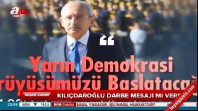 Kılıçdaroğlu darbe mesajı mı verdi?