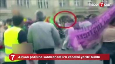Alman polisine saldıran PKK'lı kendini yerde buldu