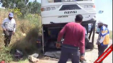 Tarım işçilerini taşıyan otobüs tarlaya uçtu: 25 yaralı