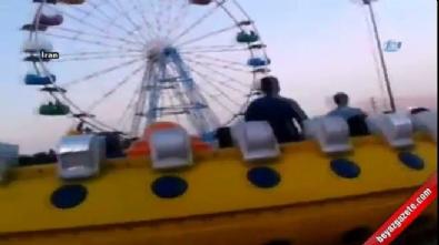 Lunaparktaki inanılmaz kaza kamerada