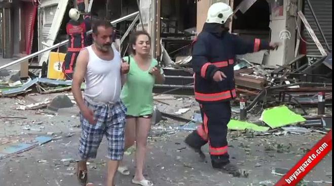 patlama sesi - Bakırköy'de bir iş yerinde patlama