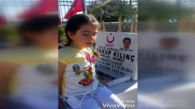 Şehit polisin kızı herkesi ağlattı: Burası cennet mi?