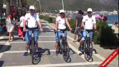 Marmaris'te bisikletli polis timi göreve başladı