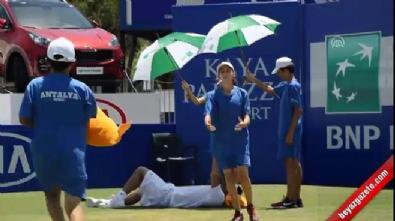 antalya - Aşırı sıcaklar tenisçiyi bayılttı