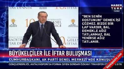 Cumhurbaşkanı Erdoğan: DEAŞ'a arka çıkmak doğru değildir