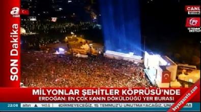 Şehitler Köprüsü'nde Cumhurbaşkanı Erdoğan'ın konuşması #15Temmuz