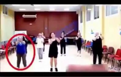 Dans ritmini tutturamayan teyzenin görüntüsü güldürüyor!