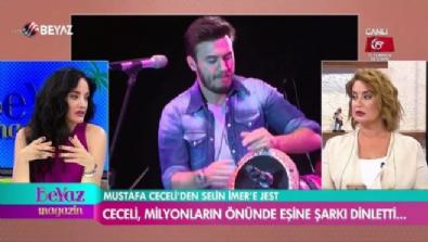Mustafa Ceceli'den eşine jest!