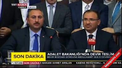 basbakan - Adalet Bakanlığı'nda devir teslim töreni yapıldı