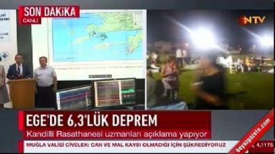 Kandilli'den deprem sonrası açıklama