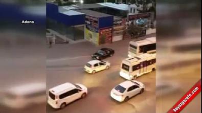 Trafik magandasından tehlikeli drift