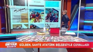 Gülben Ergen, sahte Atatürk belgesini paylaştı