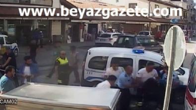 Drift yaparken kaza yapan kadın sürücü otomobili yakmaya çalıştı... O anlar kamerada