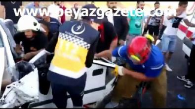 polis ekipleri - Düğün konvoyunda kaza: 3 ölü, 3 ağır yaralı