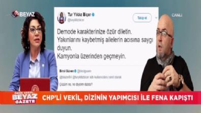 Birol Güven ile CHP Milletvekili Tur Yıldız Biçer'in hafriyat kamyonu tartışması gündem oldu