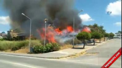 antalya - Antalya'da ormanlık arazi alev alev yandı