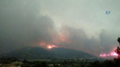 Denizli'de orman yangını! İki mahalle boşaltıldı