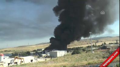 Denizli OSB'de fabrika yangını!