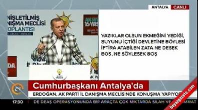 Cumhurbaşkanı Erdoğan Antalya'da konuştu