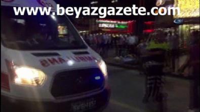 Sivas'ta kavgayı ayırmak isteyen polise kemerle saldırdı!