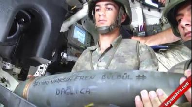 pkk teror orgutu - Mehmetçik'ten teröristlere 'Eren Bülbül' yazılı mermi