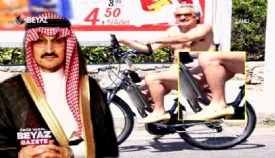 Bodrum'da bisikletinin sırtında bir prens!