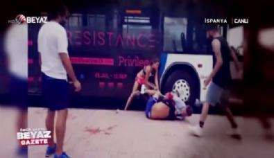 Turist çift, otobüs şoförünü öyle bir dövdü ki İzle