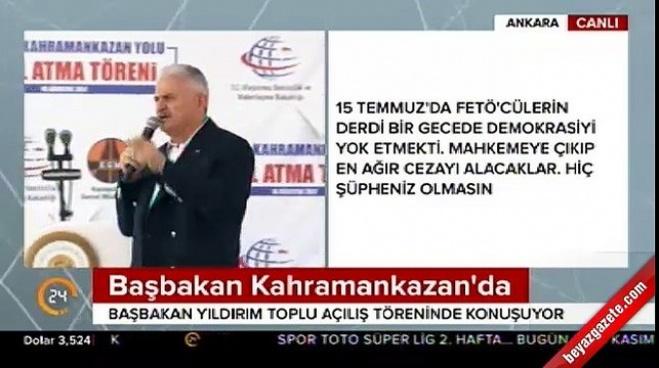 binali yildirim - Başbakan Yıldırım'dan operasyon çıkışı