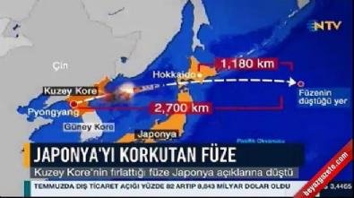Kuzey Kore'nin füzesi Japonya'nın üstünden geçti!