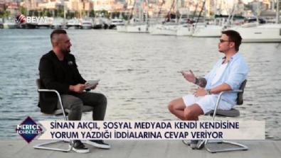 Sinan Akçıl, sosyal medyada kendi kendine yorum yazdı mı?
