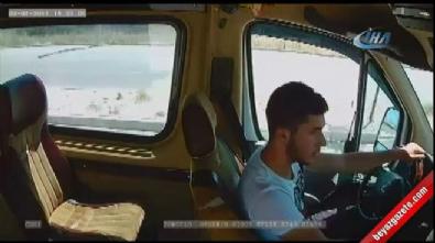 Minibüsün kaza anı kamerada