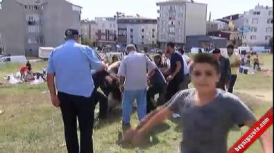 10 kişinin elinden kaçan kızgın boğa ortalığı savaş alanına çevirdi