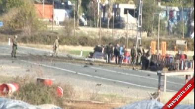 Jandarma karakoluna bomba yüklü minibüsle saldırı: 1 yaralı