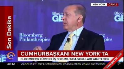 Cumhurbaşkanı Erdoğan Bloomberg Küresel İş Forumu'nda konuştu