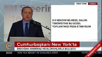 Cumhurbaşkanı Erdoğan Amerikalı müslümanlarla buluştu